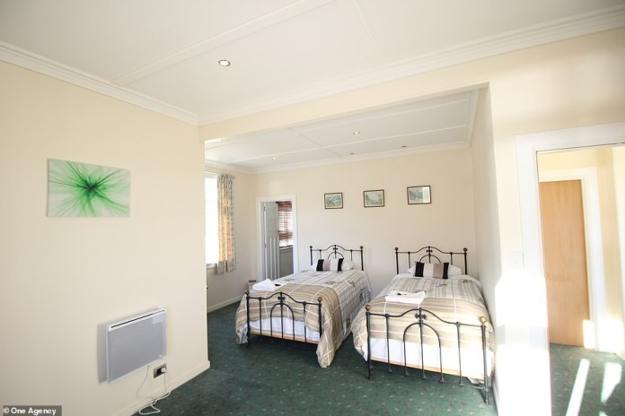 One of the bedrooms in the lodge is 585 square meters and was recently renovated