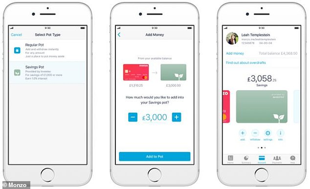 Monzo users can use the Monzo app to open an Investec savings account