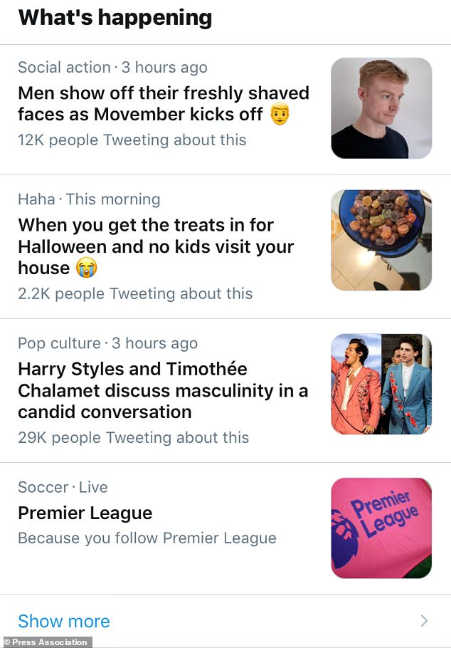 For UK users, the new pages are displayed in the Twitter Explore app's Explore tab. A repeating section will also be part of the page telling the story of the match in reverse chronological order