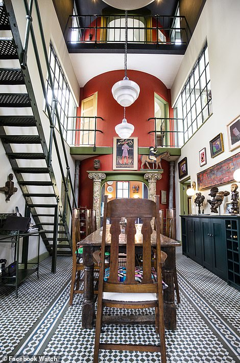 The interiors of an Art Deco styled home in Kent that originally designed as a water softening plant