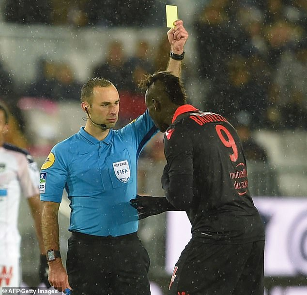 No 9 Balotelli has scored three goals in five Ligue 1 matches for Nice so far this term