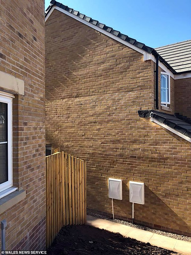 """Mr Harris said: """"The brickyard at the side of the property, pictured"""