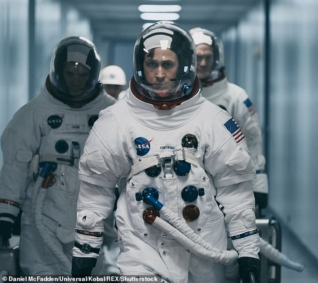 Mr. Schweickart said First Man - Neil Armstrong's new biopic with Ryan Gosling in the lead (pictured) - did not accurately portray some of the technical aspects of space travel