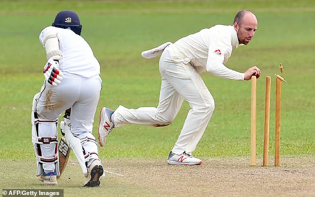 The Englishman Jack Leach has Avishka Fernando from the XI
