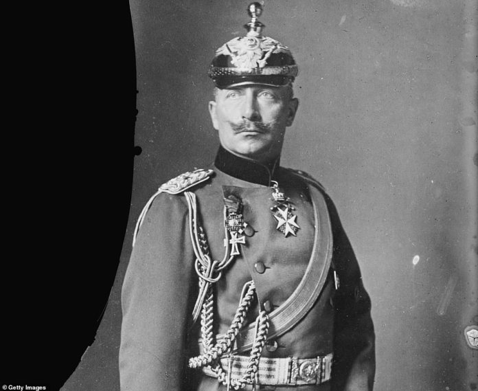 Portrait of Wilhelm II (1859 - 1941), early 20th century. He was the last German Emperor and King of Prussia, who ruled from 15 June 1888 until the end of the First World War (November 1918). He was the grandson of Queen Victoria of England