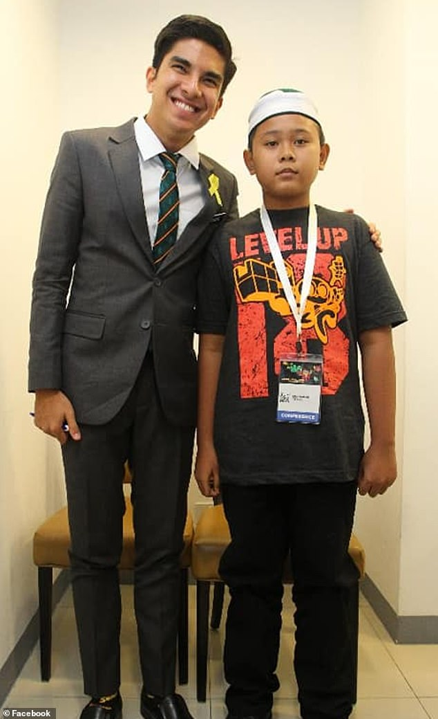 Muhammad Thaqif (right) was praised by Malaysian Youth and Sports Minister Syed Saddiq, who said:
