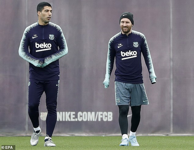 As Messi is probably out of the game in Vallecano, Luis Suarez (left) will be the main striker of Barca