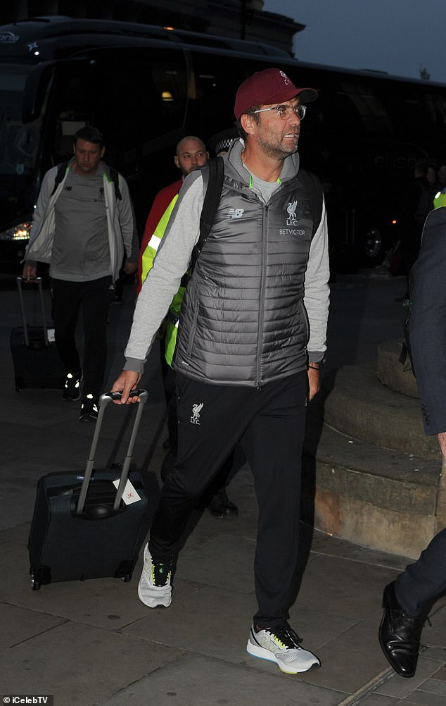 Jurgen Klopp and his players from Liverpool started their journey to London on Friday evening