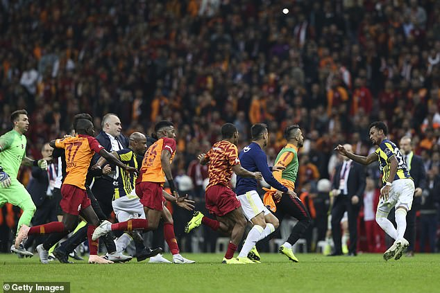 Fenerbahce midfielder Jailson was chased off the pitch after scoring a sensational equalizer