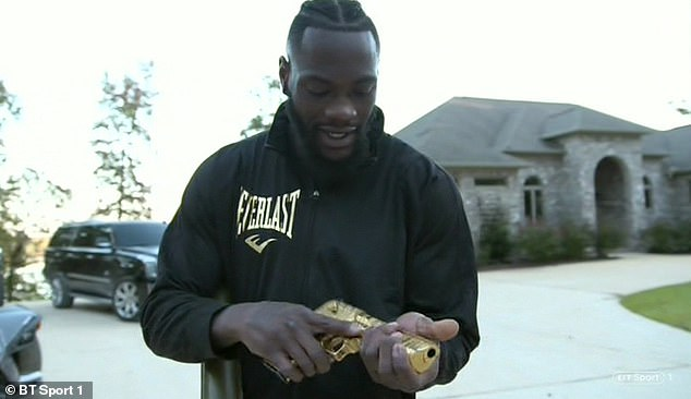 Wilder also revealed that he had to take the pistol for a week after he had fired for the first time