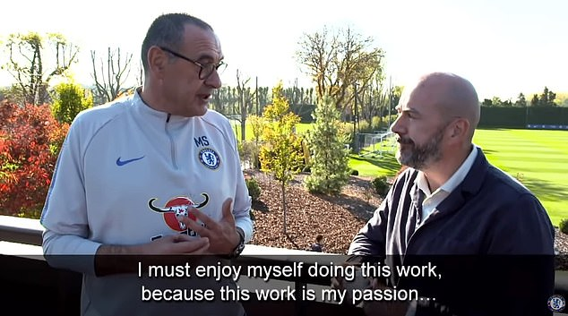 The Italian gave up a job in banking to start training, because football is his passion