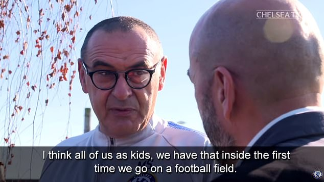 Sarri just wants to make sure that his Chelsea players always enjoy their football