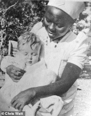 Alexander with a nurse in Zimbabwe when he was a boy