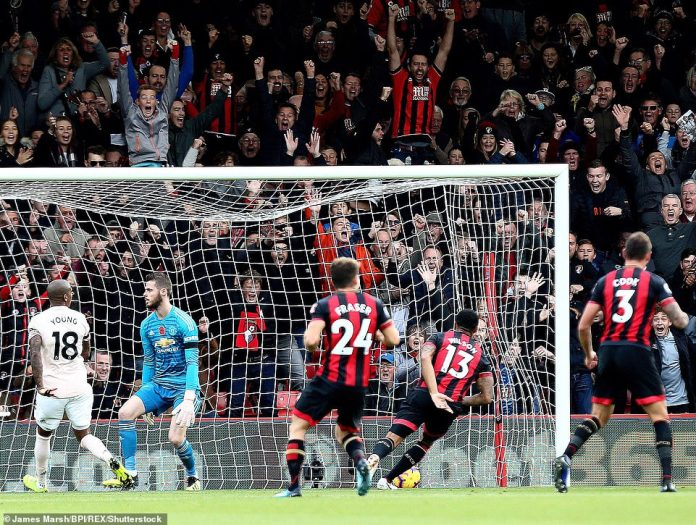 Wilson was punched in with a simple punch after Junior Stanislas (not pictured) had found him with a well-placed cross in the box