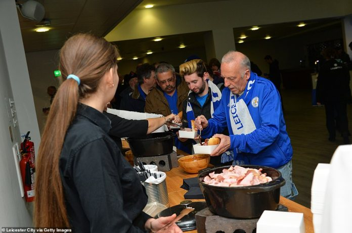 The followers of Leicester got a free breakfast in honor of Srivaddhanaprabha's life before they drove to Cardiff