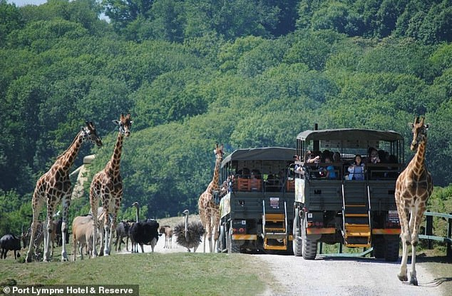 The Port Lympne Hotel and Reserve Wildlife Park is a 600 acre nature reserve in Kent