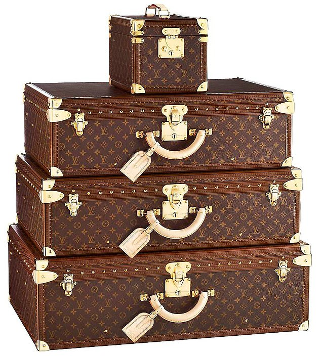 Innovation: Louis Vuitton revolutionized the luggage industry when he began producing canvas cases that could be stacked on top of each other