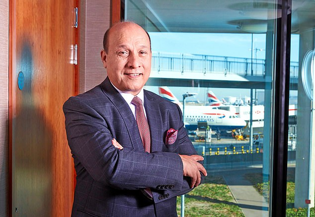 Empire: Surinder Arora has raised a fortune of 350 million pounds after opening his first hotel in 1999
