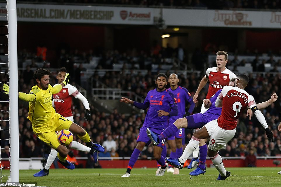 Lacazette had to exclude his effort for the offside, as both sides almost came on the scoresheet in the first half