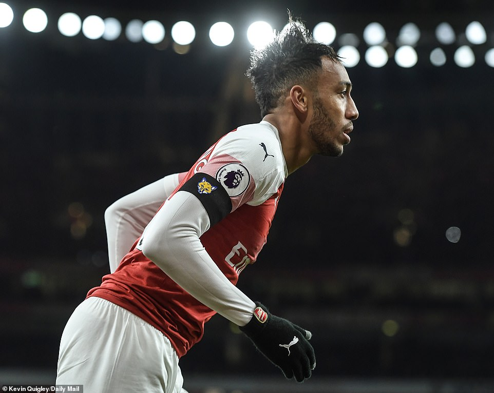 Pierre-Emerick Aubameyang started the game cheerfully for the hosts and caused a lot of problems on the left side