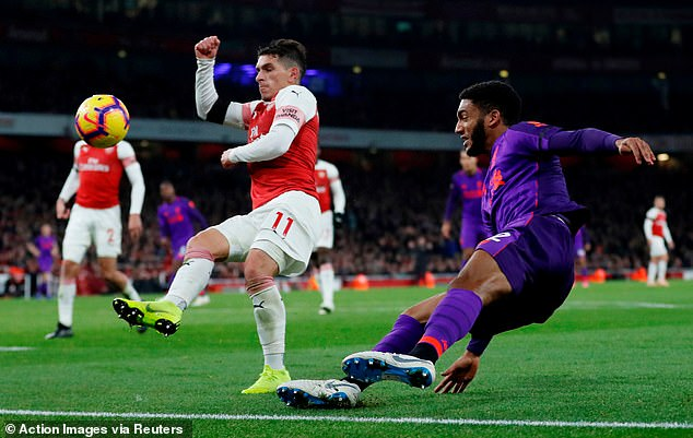 Torreira helped the Gunners control the midfield for much of the Saturday night