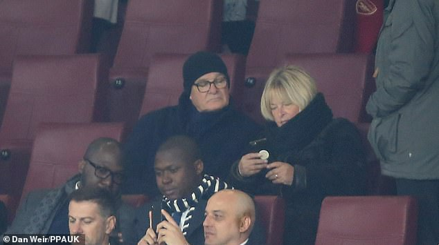 Former Leicester manager Claudio Ranieri was a spectator at the Emirates Stadium