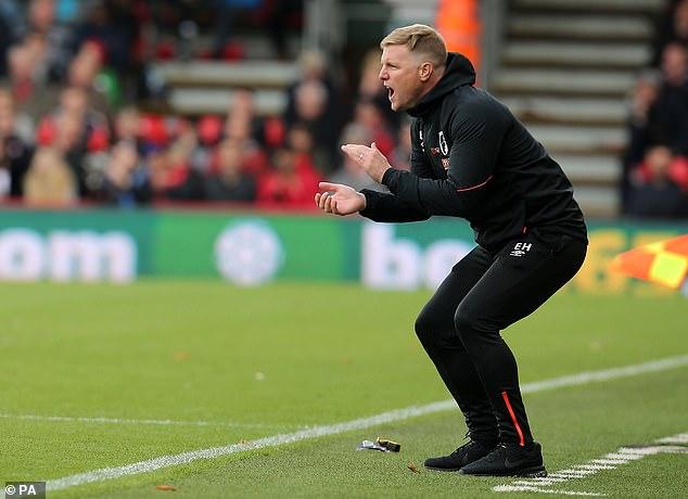 Eddie Howe was happy despite Saturday's defeat by United