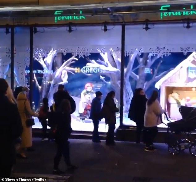 Greggs Reflects Their Name Onto Fenwicks Window Display