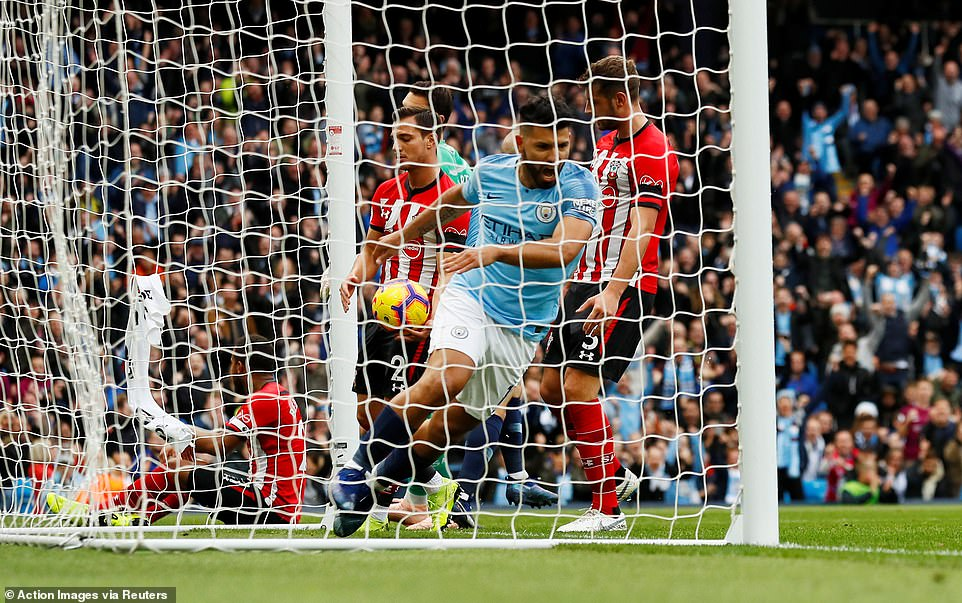 Aguero scored in the 12th minute of the match when City got off to an excellent start in the Etihad stadium