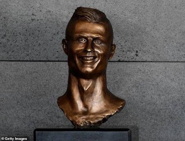 The bust has even drawn comparisons to the infamous sculpture of Cristiano Ronaldo