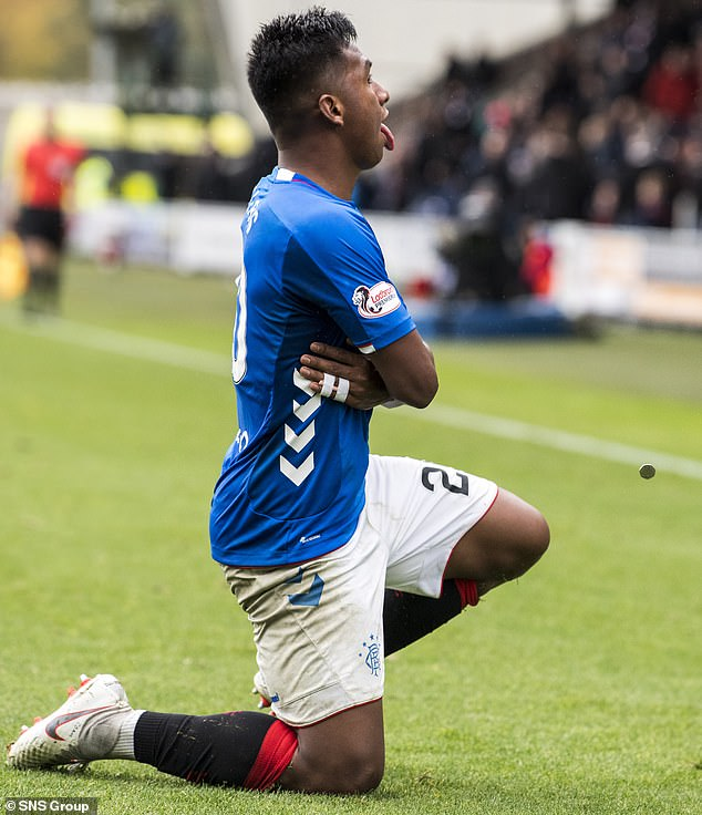 Rangers' Alfredo Morelos was hit by a coin after beating St. Mirren in Paisley