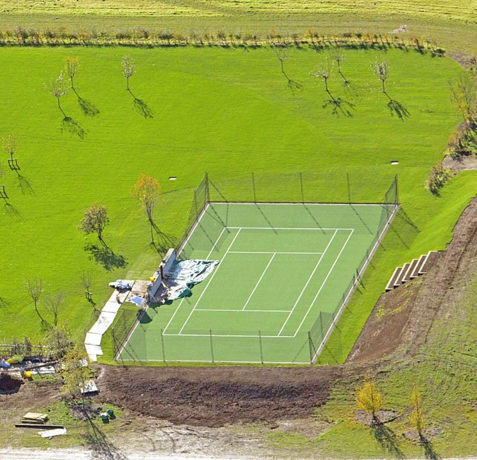 Game, set, game! David and Victoria Beckham have built their 16-year-old son Romeo a £ 30,000 artificial turf pitch in their £ 6 million family home in the Cotswolds