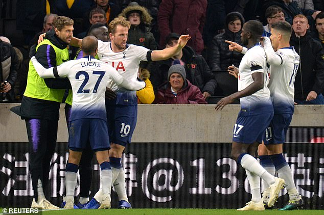 "Tottenham won 3-2 on Wolves on Saturday night to stay in touch with his ""Big Six"" rivals"