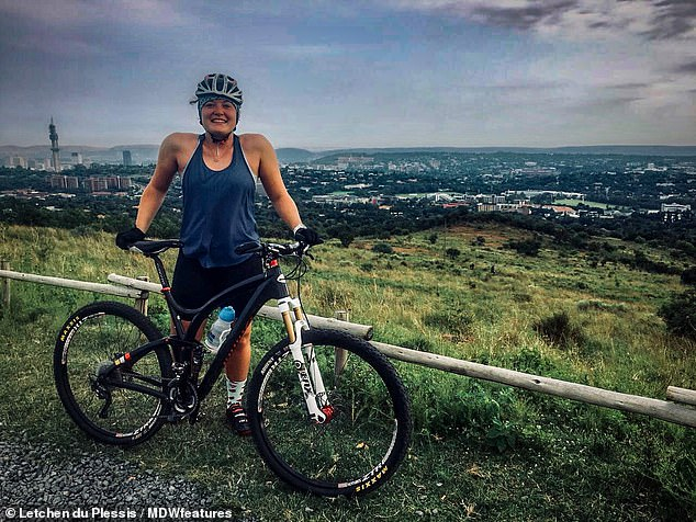 The once-athletic Miss du Plessis (pictured above) takes Parkinson's medication and spends her life running between doctors and physiotherapists who can not predict her. She may need to have Botox injections to keep her muscles from contracting