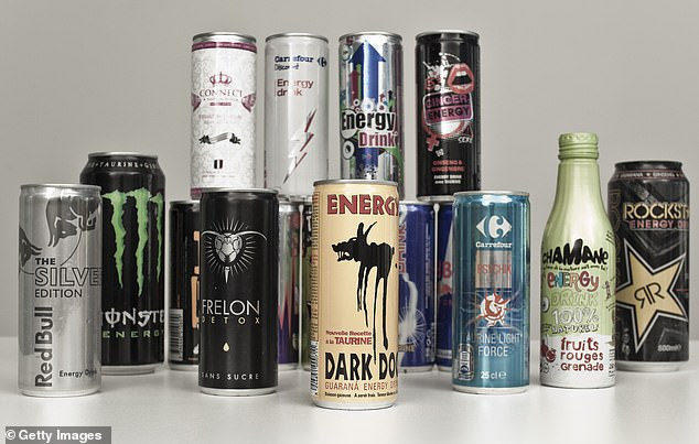 A new study found that consuming energy drinks can narrow blood vessels, restrict blood flow and increase the risk of heart attacks and strokes (image file).