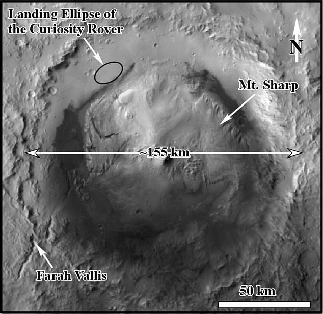 Four units within a section of rock at Gale Crater represent different types of sedimentation, according to new research