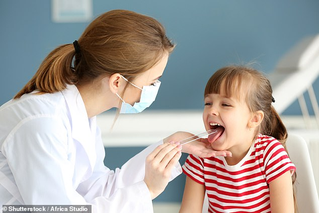 More than 30,000 British children needlessly have their tonsils removed every year (stock)
