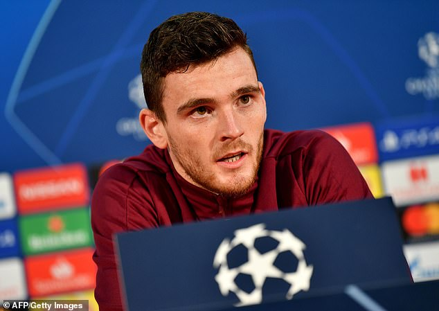 Defender Andy Robertson challenged the teammates to accept the intimidating home atmosphere