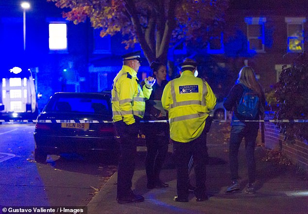 She was put on the spot following the fatal stabbing of a man in Anerley, south London, on Sunday (pictured)