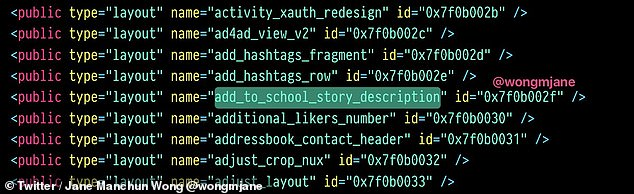 """Instagram would also add additional safeguards to prevent abuse by cyberbullies. One line in the code reads: """"School histories are manually reviewed to make sure the community is safe."""""""