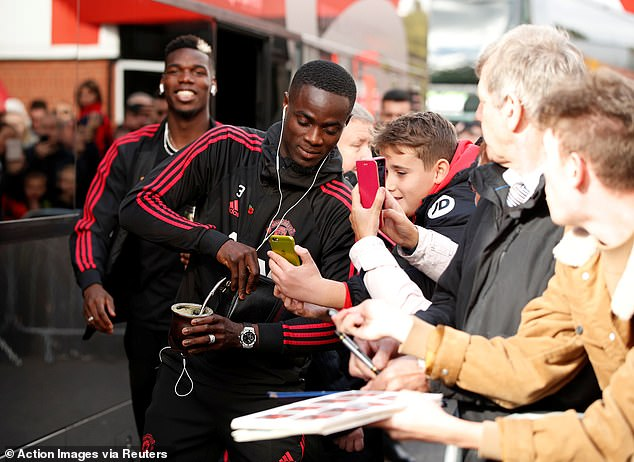 Bailly traveled to Vitality Stadium with United, but was not included in the squad