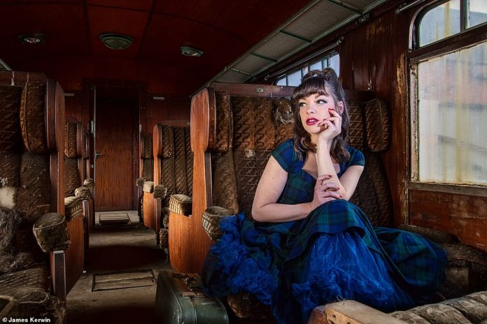 On a tour of France, the two discovered a disused railway carriage and thought it would be the perfect location for a shot of Jade wearing a retro dress