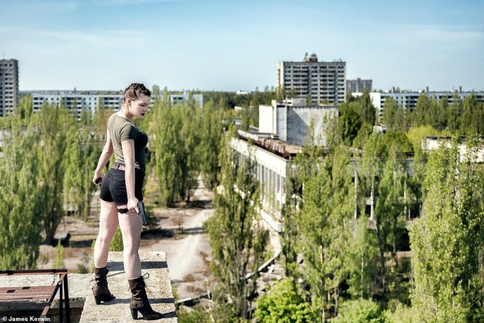 In April 2007, James and Jade traveled to Pripyat, a ghost town in the Ukraine. They performed a Tomb Raider motif overlooking the rooftops