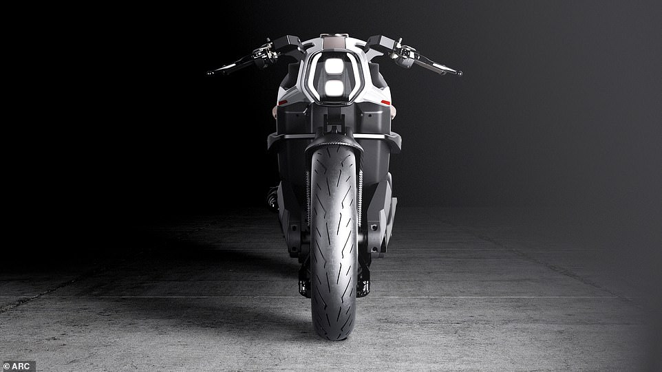 The bike uses an electric power cell that generates 399 voltage units. That means it can accelerate from 0-62 mph in 3.1 seconds to a top speed of 120 mph