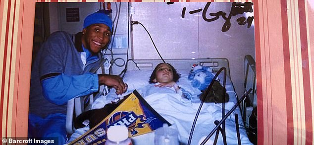 Miss Cornelio is pictured after her first operation, which was attended by NBA player Shawn Marion