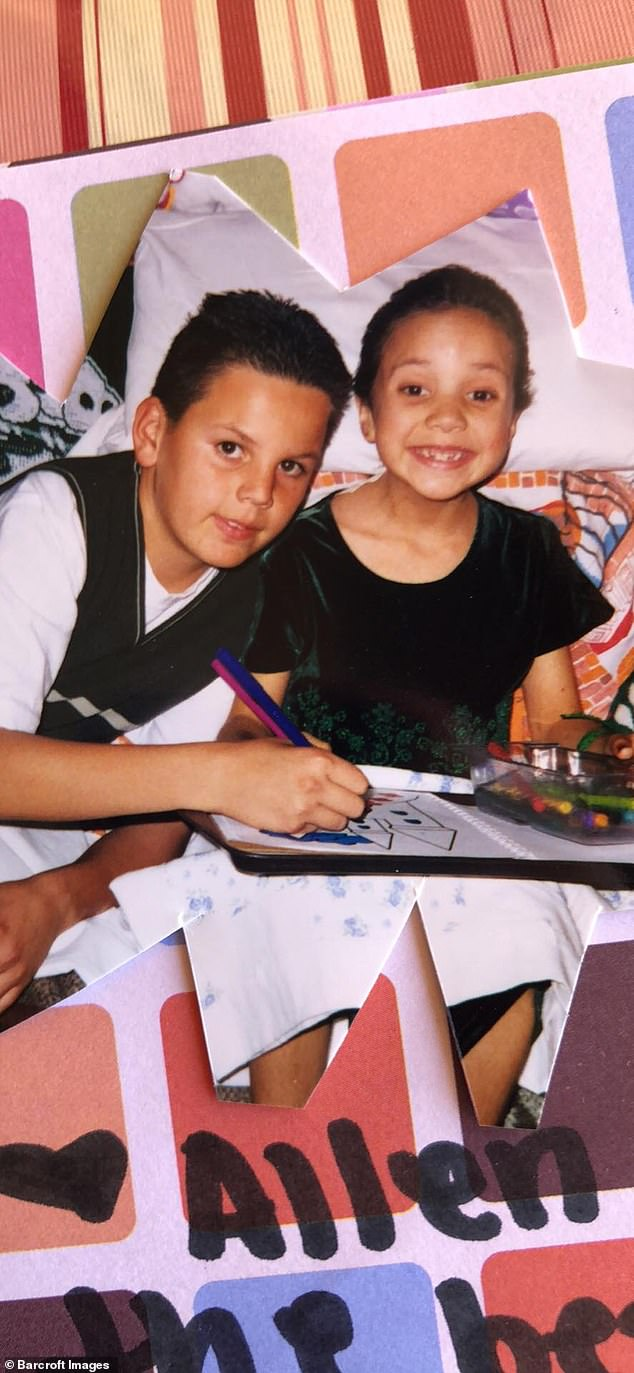 """Portrayed as a child with her brother, Miss Cornelio struggled as she went through puberty because she did not develop the body of a """"normal"""" teenager and was instead covered with painful tumors. """"I did not have what everyone at this age went through,"""" she said"""