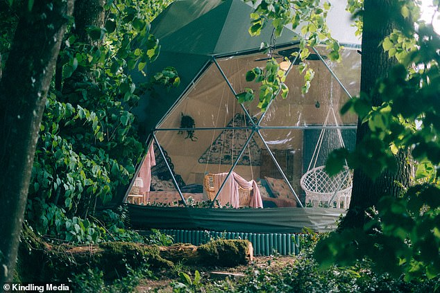 There is plenty of privacy for guests booking to stay in one of the two glamping domes