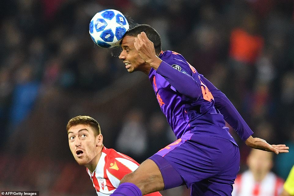 Joel Matip came on the defensive after Dejan Lovren stayed in the team hotel because he could not play because of his illness