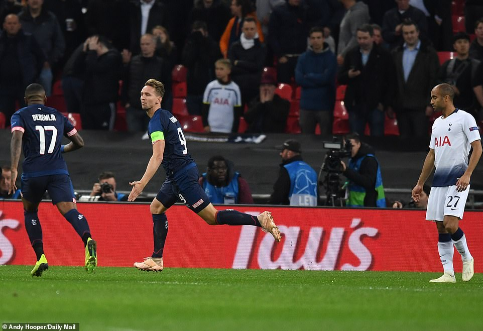 Wembley was surprised when the striker turned Gaston Pereiro's corner within 90 seconds of kick-off