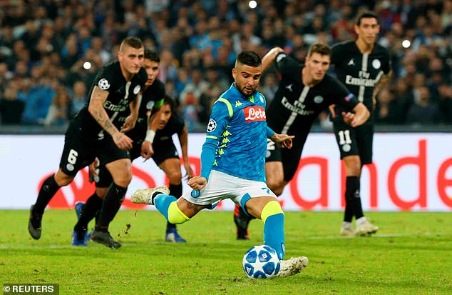 Lorenzo Insigne equalized at the penalty spot and scored a hard-fought point for Napoli on Tuesday